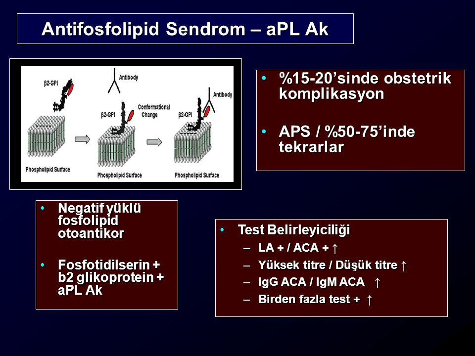 Antifosfolipid Sendrom – aPL Ak