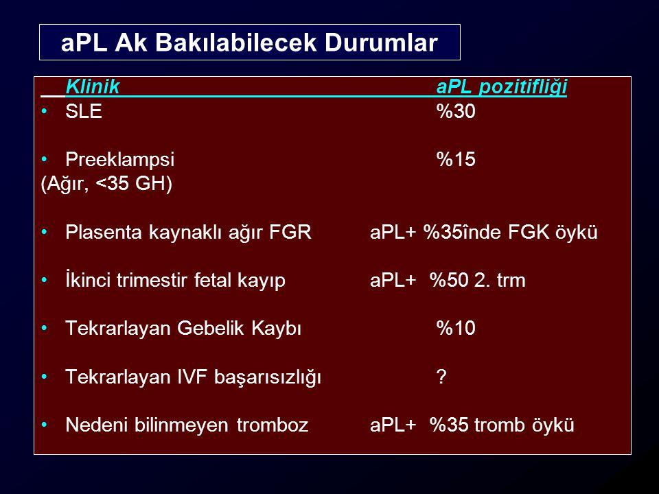 aPL Ak Bakılabilecek Durumlar