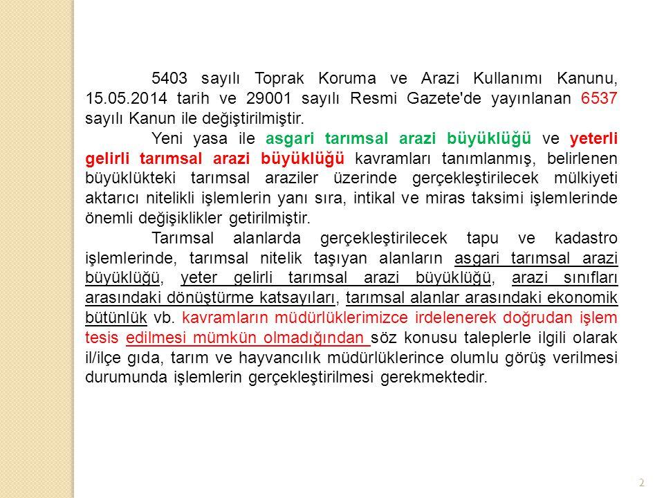 5403 sayılı Toprak Koruma ve Arazi Kullanımı Kanunu, 15. 05