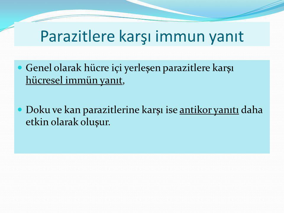 Parazitlere karşı immun yanıt