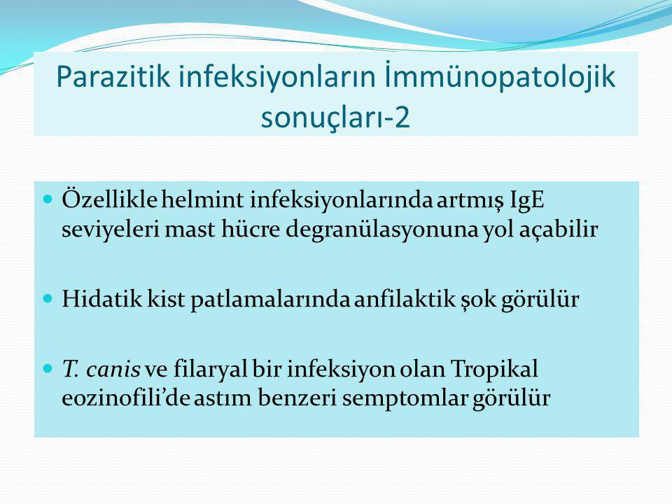 Parazitik infeksiyonların İmmünopatolojik sonuçları-2