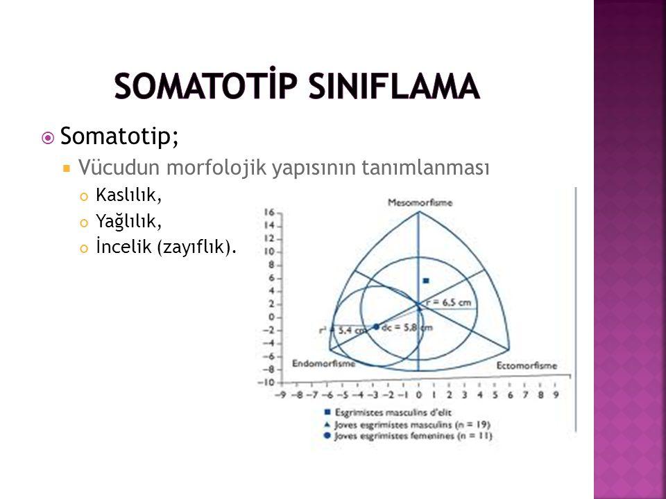 SOMATOTİP SINIFLAMA Somatotip;