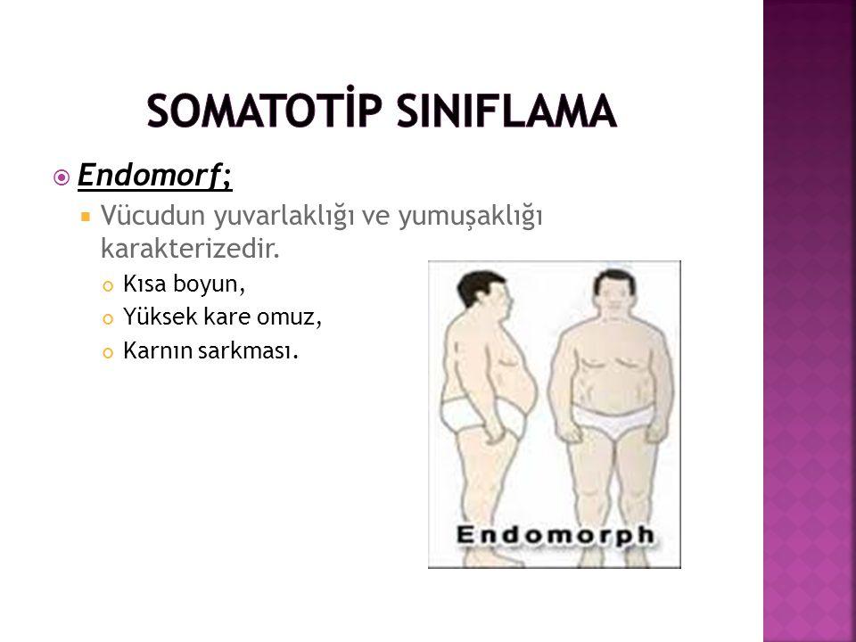 SOMATOTİP SINIFLAMA Endomorf;