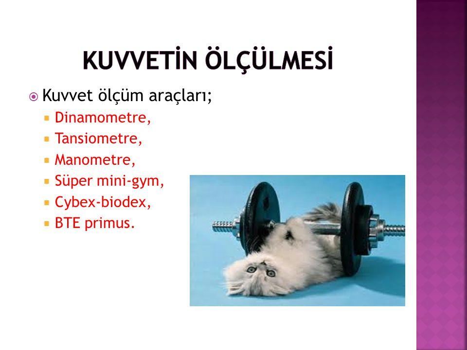 KUVVETİN ÖLÇÜLMESİ Kuvvet ölçüm araçları; Dinamometre, Tansiometre,