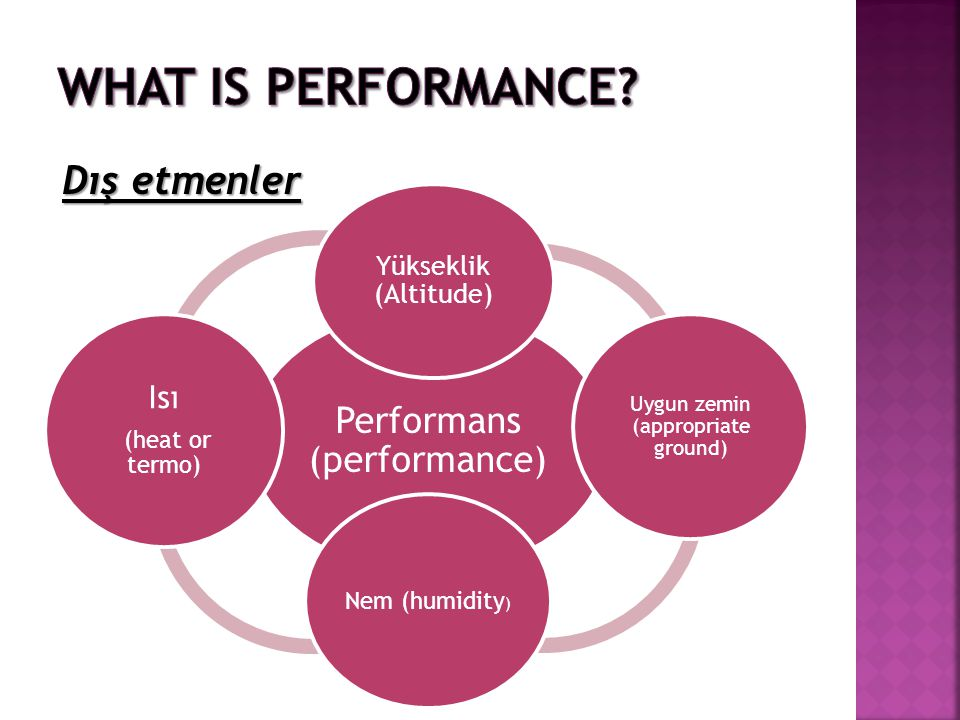 What is Performance Dış etmenler Performans (performance) Isı
