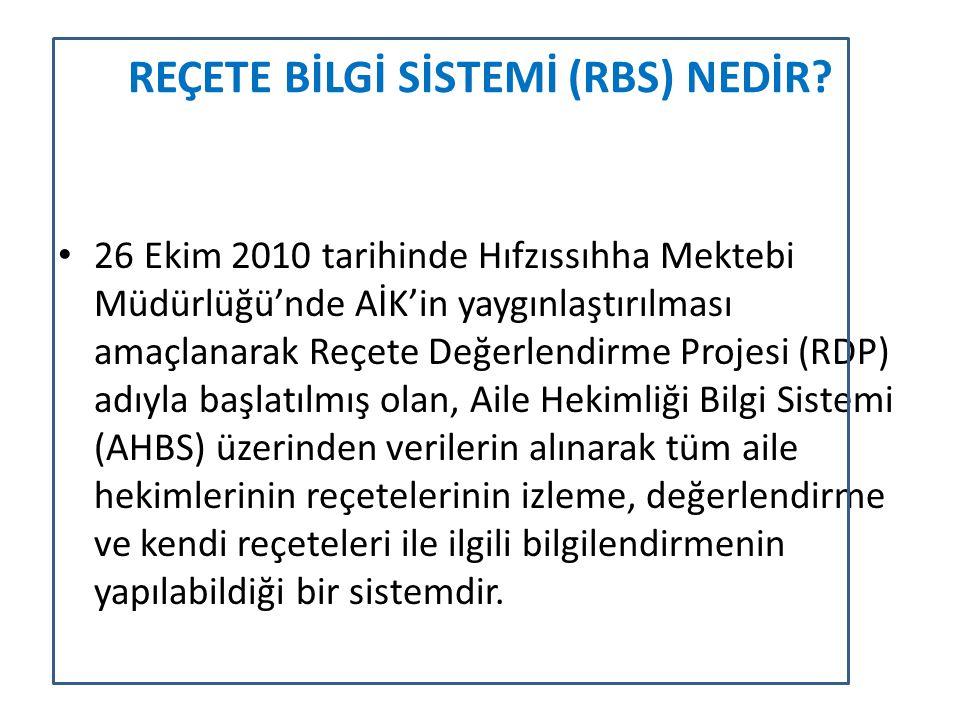 REÇETE BİLGİ SİSTEMİ (RBS) NEDİR