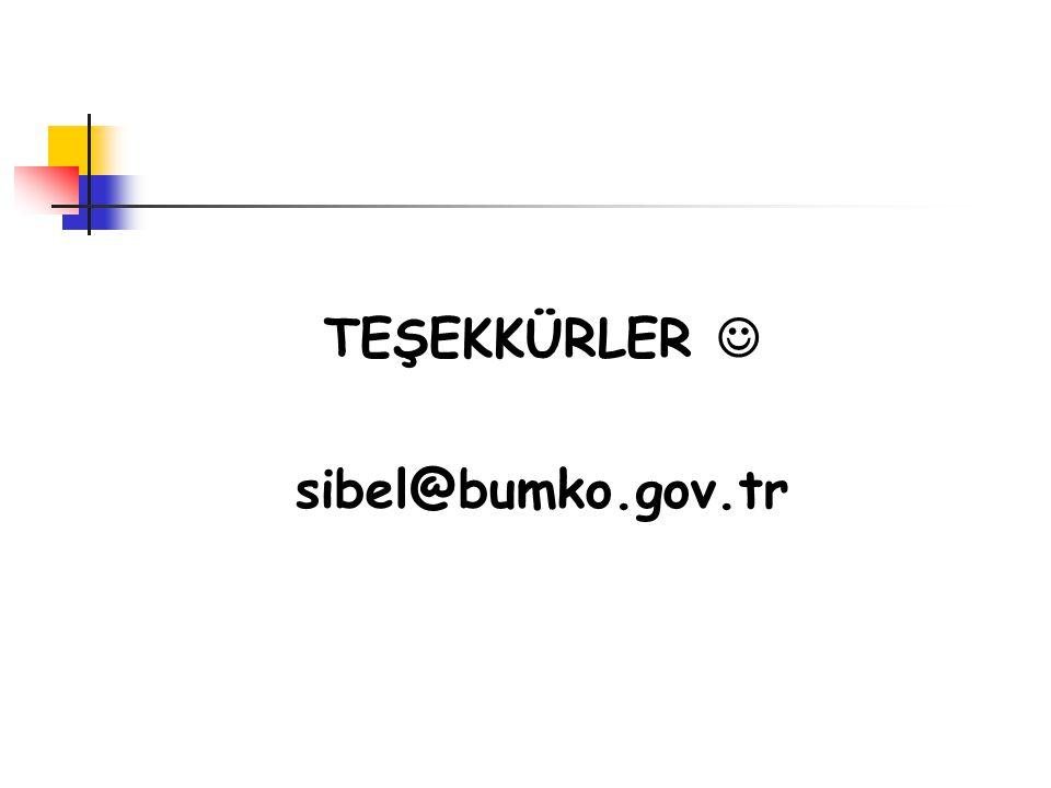 TEŞEKKÜRLER  sibel@bumko.gov.tr