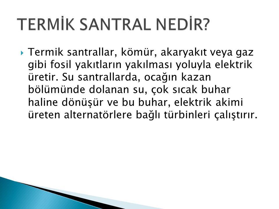 TERMİK SANTRAL NEDİR