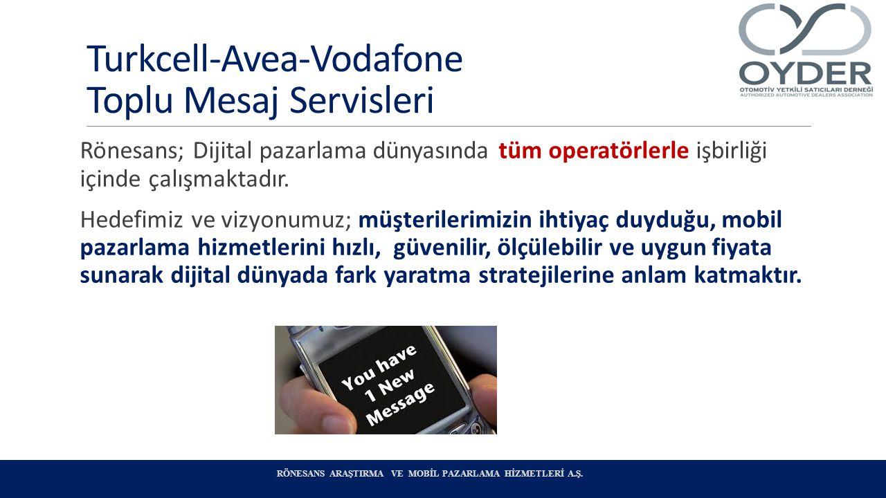 Turkcell-Avea-Vodafone Toplu Mesaj Servisleri