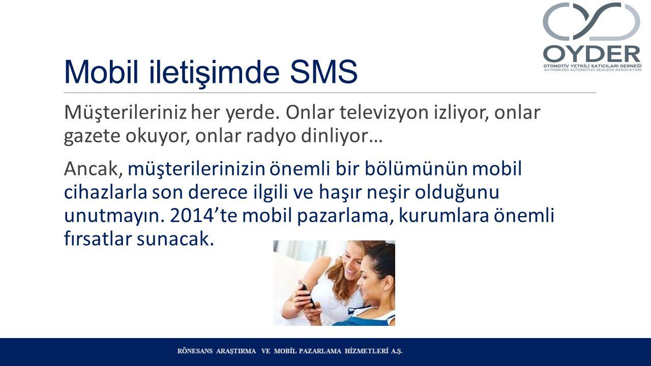 Mobil iletişimde SMS Müşterileriniz her yerde. Onlar televizyon izliyor, onlar gazete okuyor, onlar radyo dinliyor…
