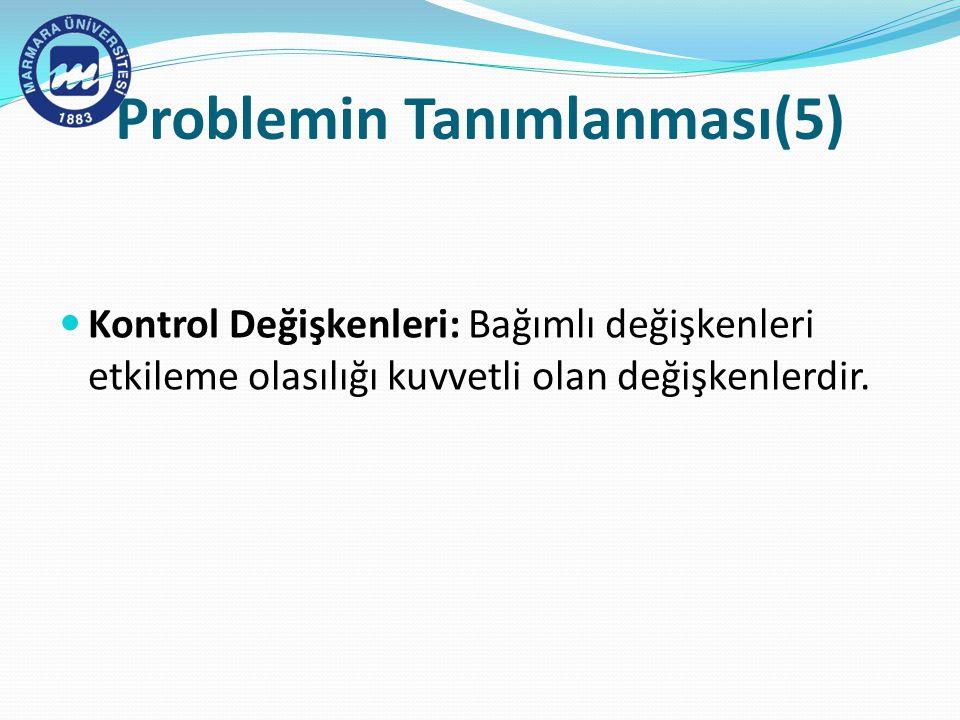Problemin Tanımlanması(5)