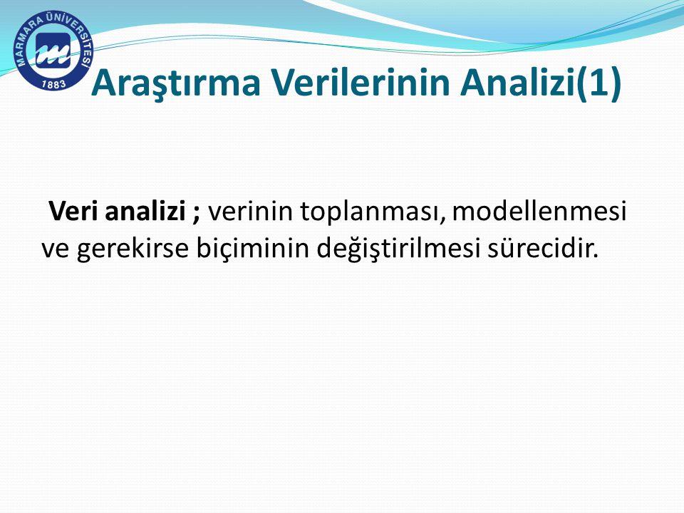 Araştırma Verilerinin Analizi(1)