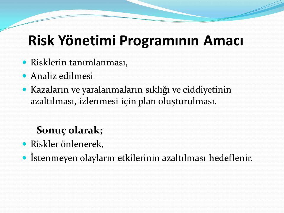 Risk Yönetimi Programının Amacı
