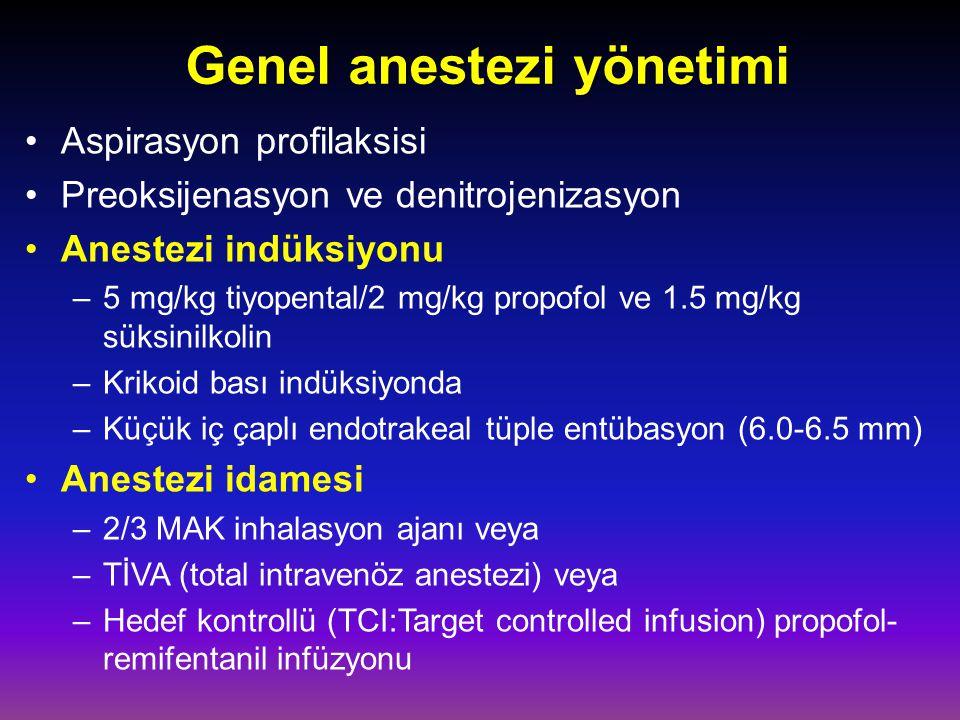 Genel anestezi yönetimi