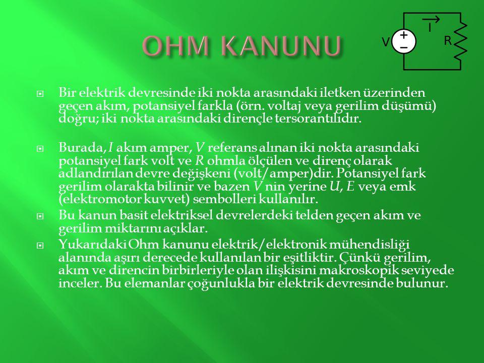 OHM KANUNU
