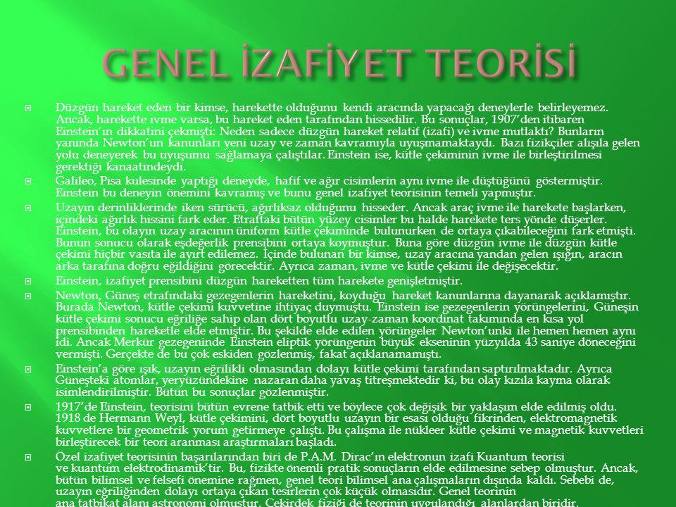 GENEL İZAFİYET TEORİSİ