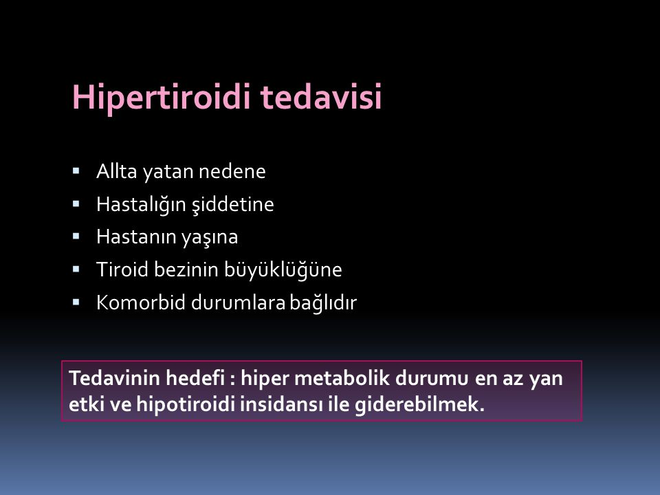 Hipertiroidi tedavisi