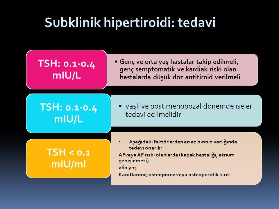 Subklinik hipertiroidi: tedavi