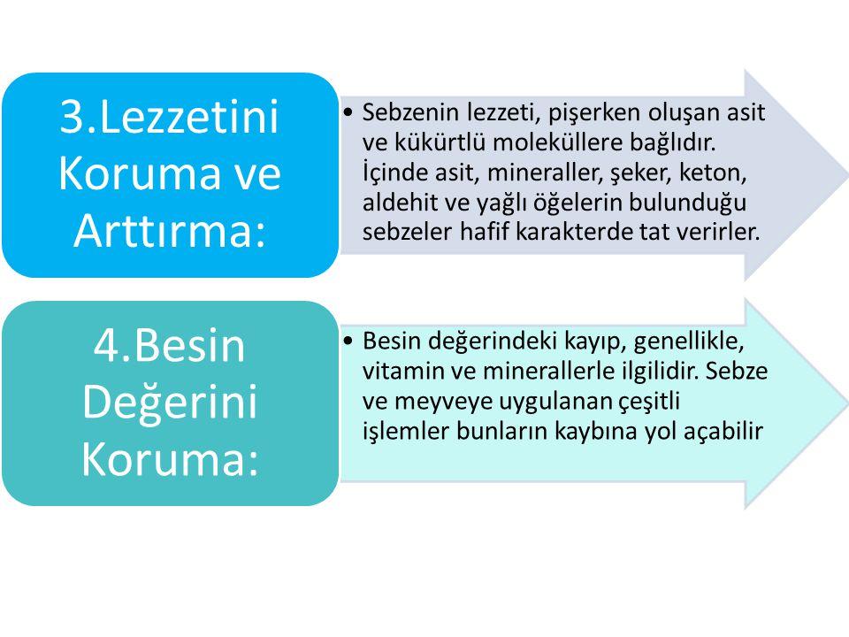 3.Lezzetini Koruma ve Arttırma: