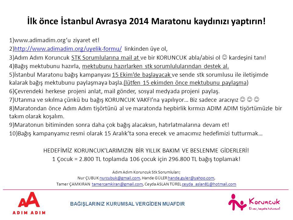 İlk önce İstanbul Avrasya 2014 Maratonu kaydınızı yaptırın!
