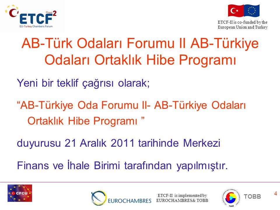 AB-Türk Odaları Forumu II AB-Türkiye Odaları Ortaklık Hibe Programı