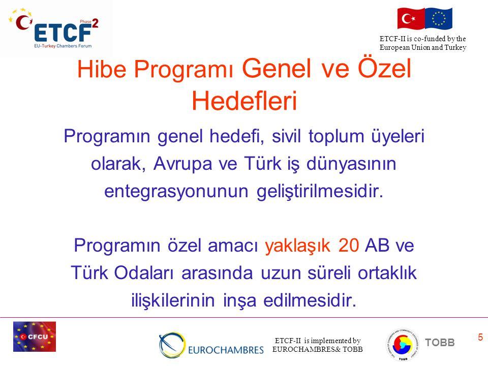 Hibe Programı Genel ve Özel Hedefleri