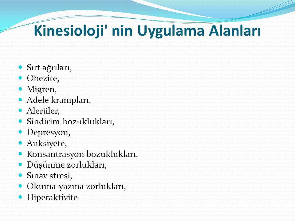 Kinesioloji nin Uygulama Alanları
