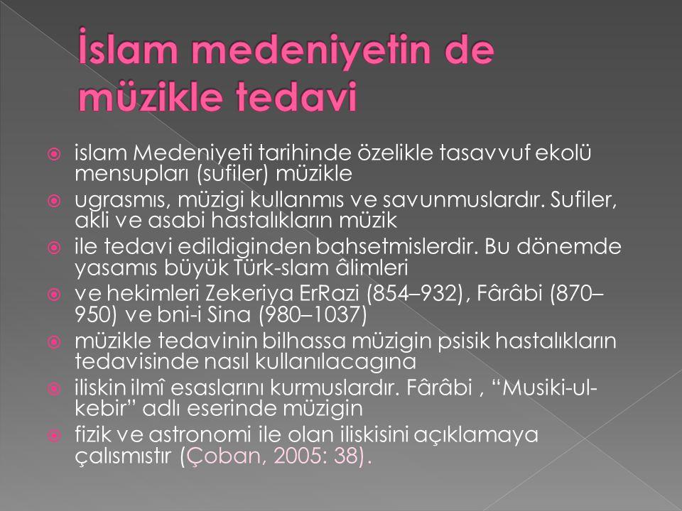 İslam medeniyetin de müzikle tedavi