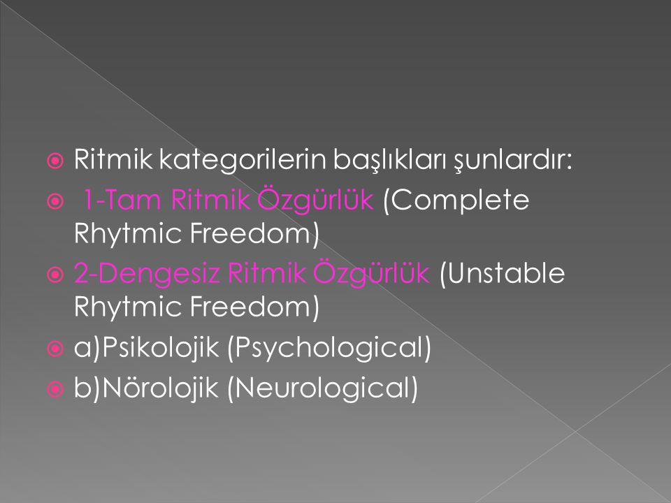 Ritmik kategorilerin başlıkları şunlardır: