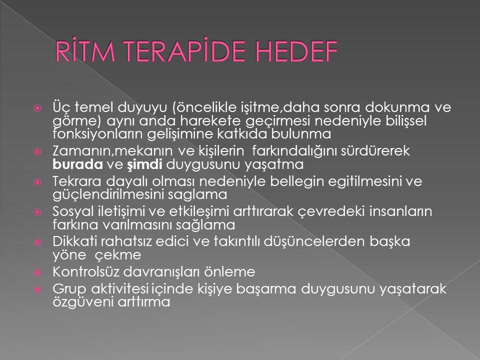 RİTM TERAPİDE HEDEF
