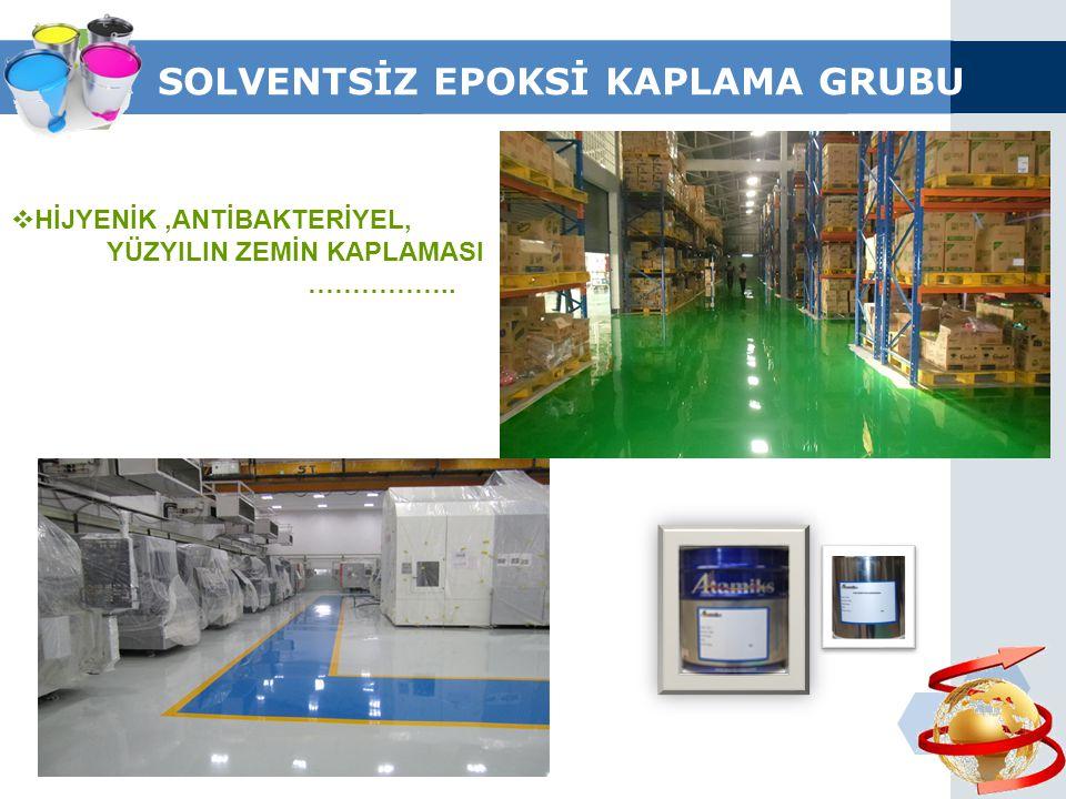 SOLVENTSİZ EPOKSİ KAPLAMA GRUBU