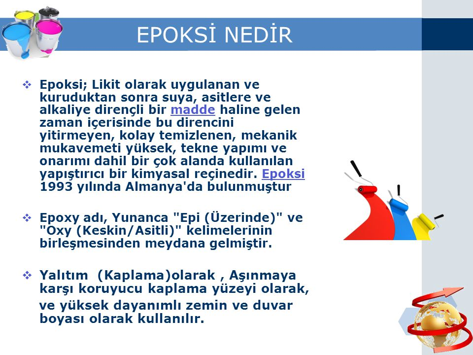 EPOKSİ NEDİR