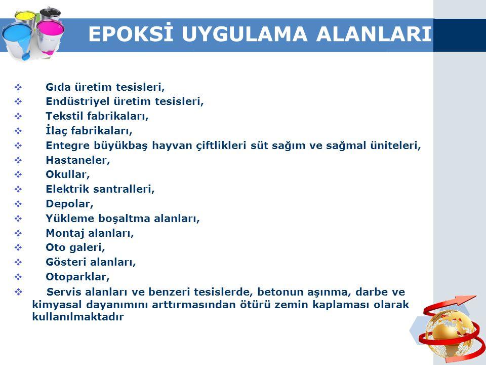 EPOKSİ UYGULAMA ALANLARI