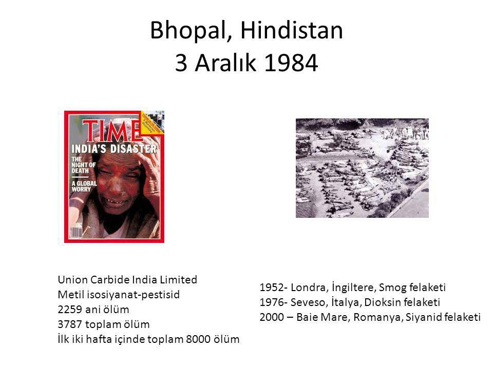 Bhopal, Hindistan 3 Aralık 1984