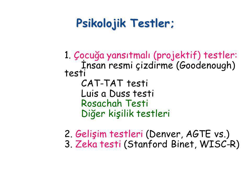 Psikolojik Testler;