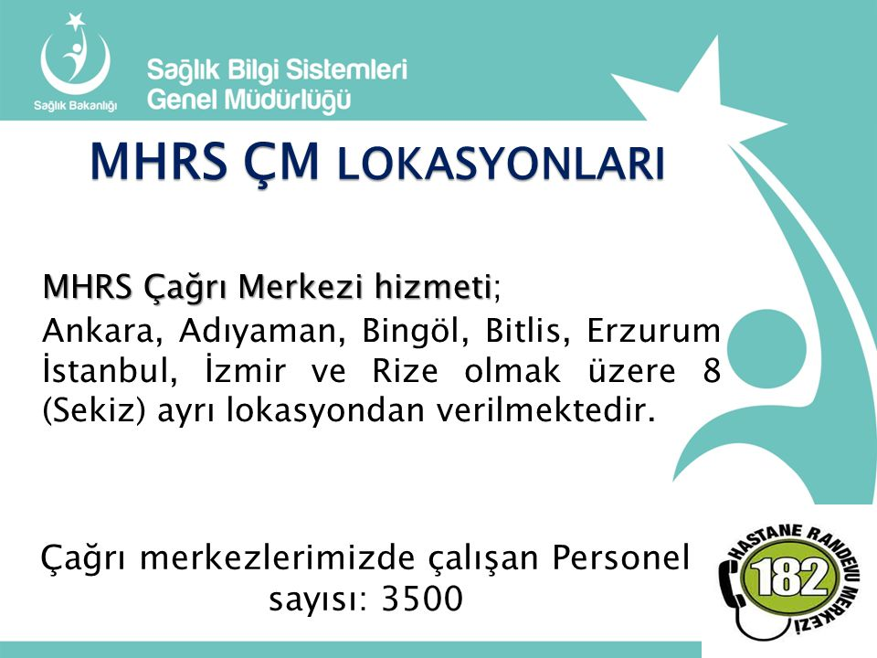Çağrı merkezlerimizde çalışan Personel sayısı: 3500