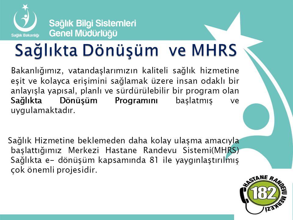 Sağlıkta Dönüşüm ve MHRS