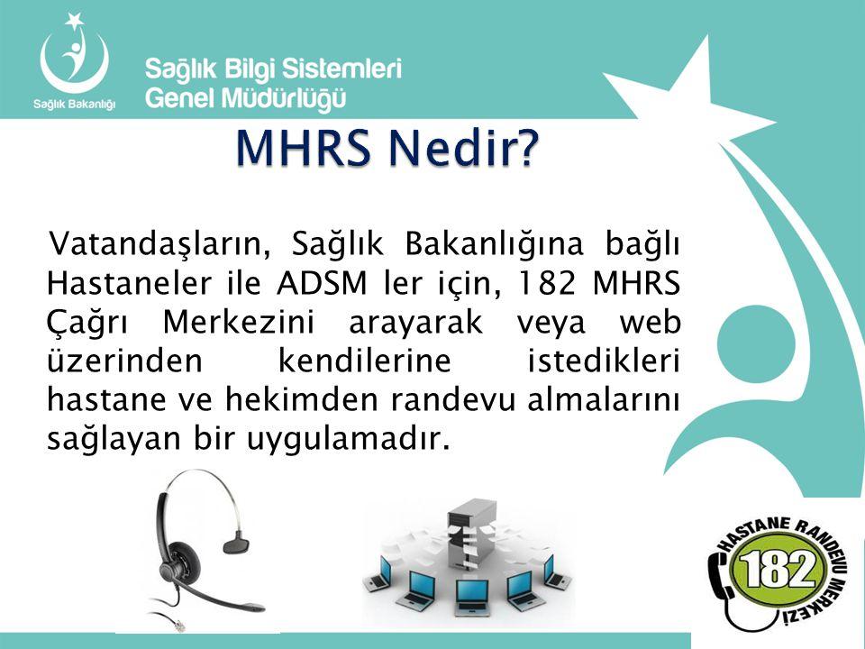 MHRS Nedir
