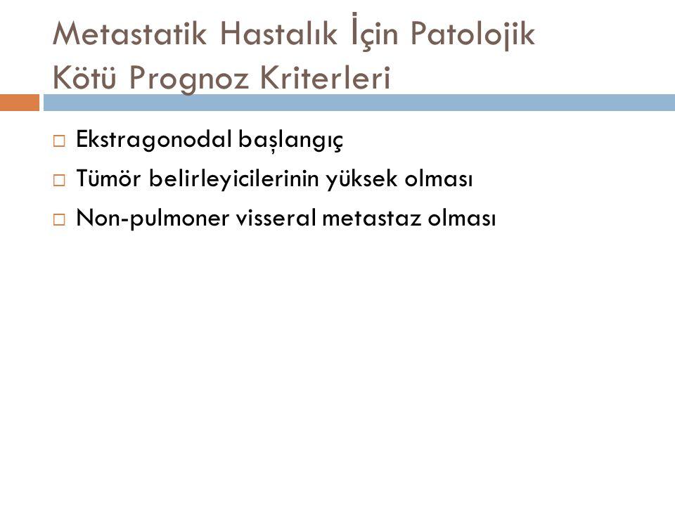 Metastatik Hastalık İçin Patolojik Kötü Prognoz Kriterleri