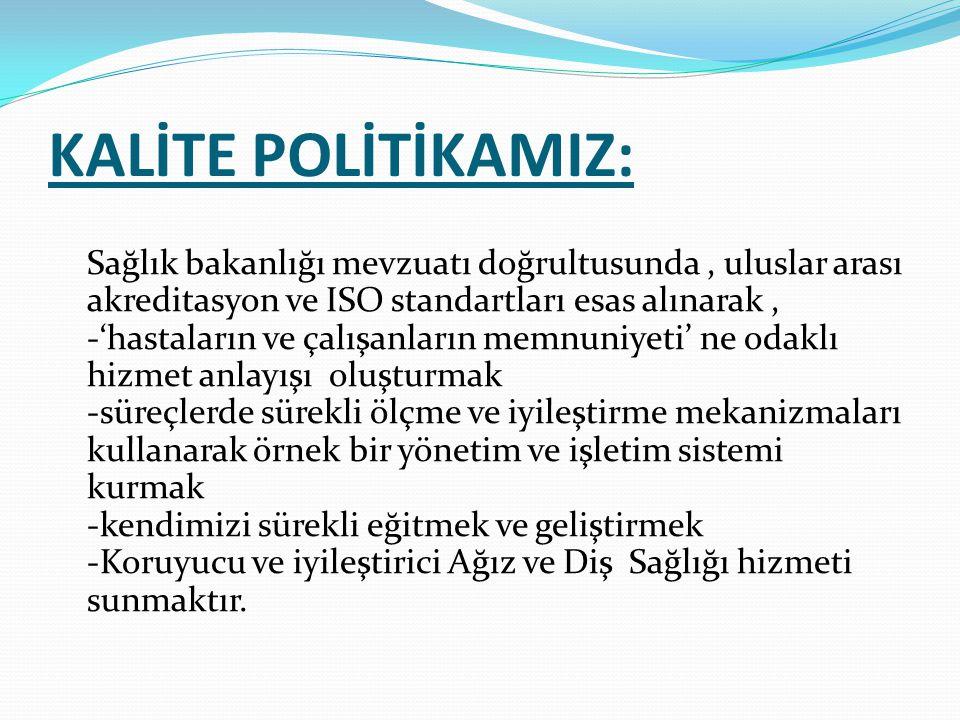 KALİTE POLİTİKAMIZ: