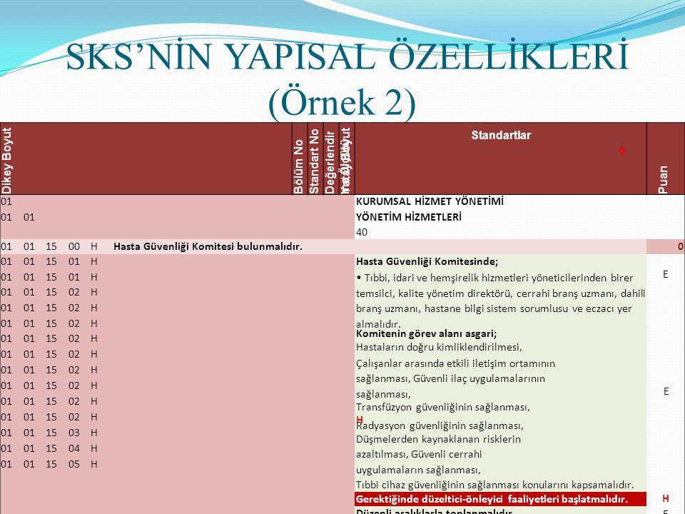 SKS'NİN YAPISAL ÖZELLİKLERİ (Örnek 2)