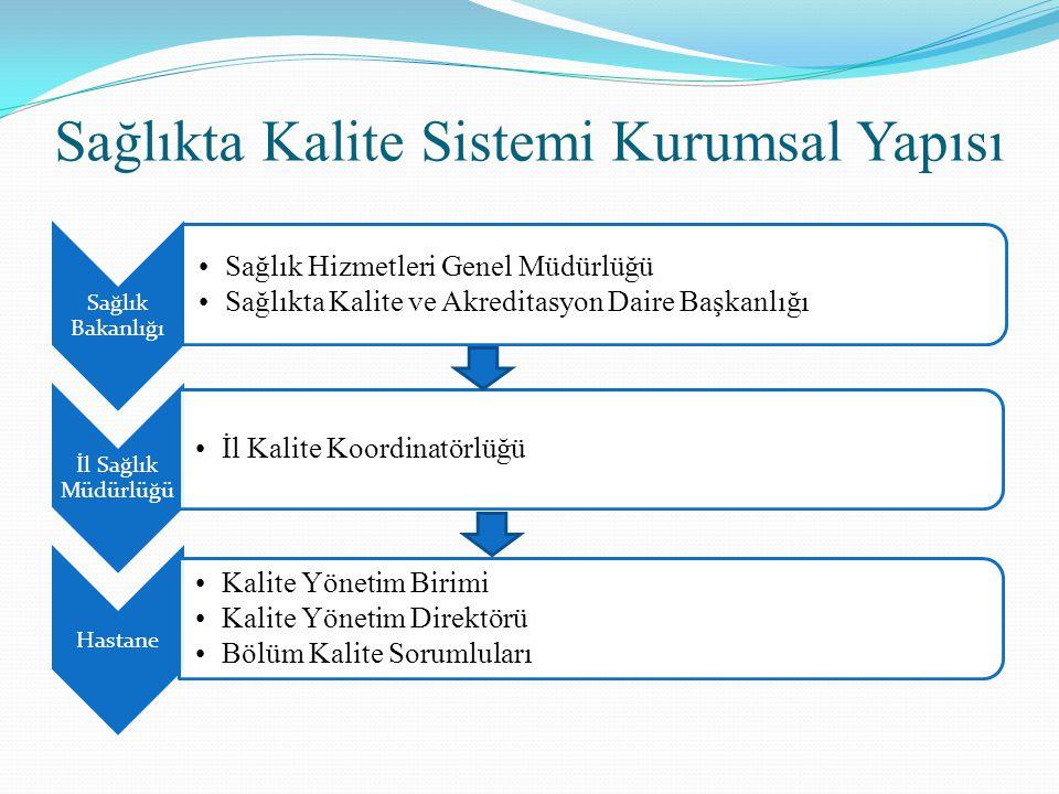 Sağlıkta Kalite Sistemi Kurumsal Yapısı
