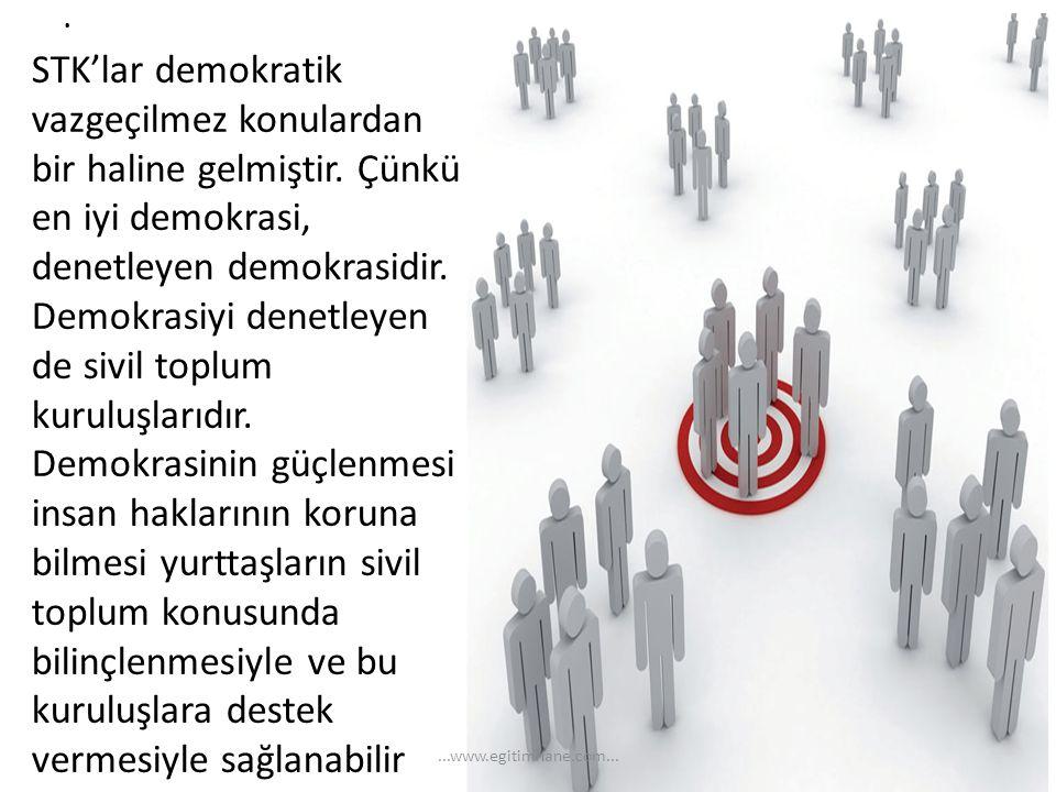STK'lar demokratik vazgeçilmez konulardan bir haline gelmiştir
