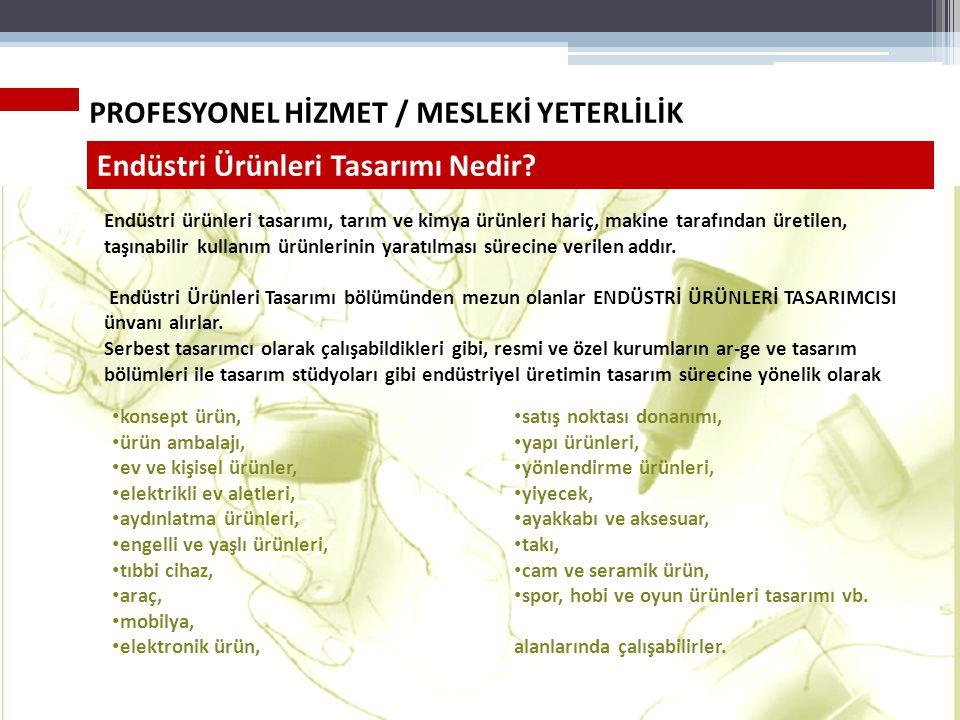 PROFESYONEL HİZMET / MESLEKİ YETERLİLİK