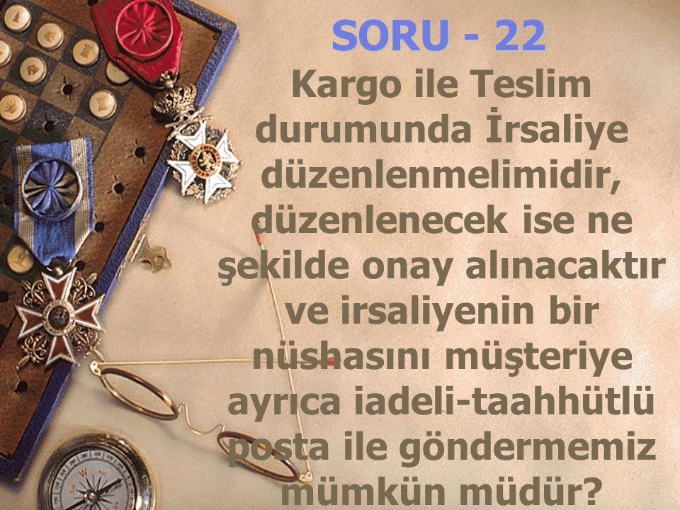 SORU - 22
