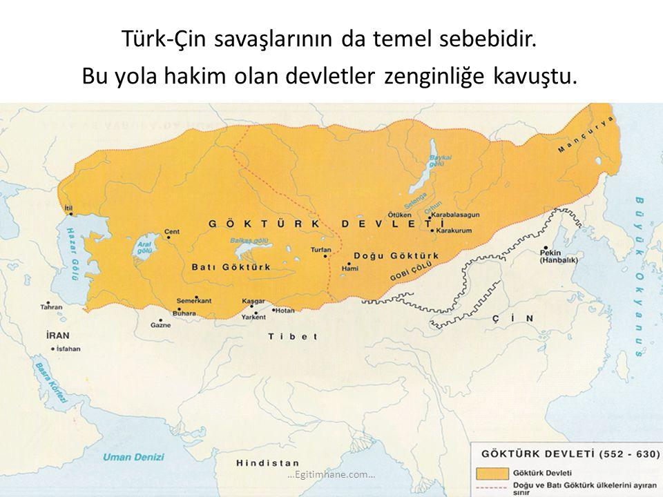 Türk-Çin savaşlarının da temel sebebidir
