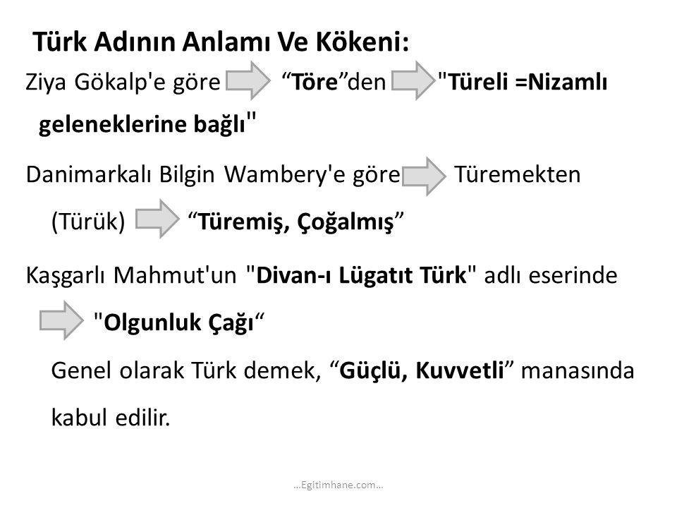 Türk Adının Anlamı Ve Kökeni: geleneklerine bağlı