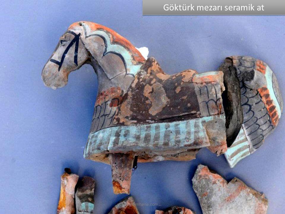 Göktürk mezarı seramik at