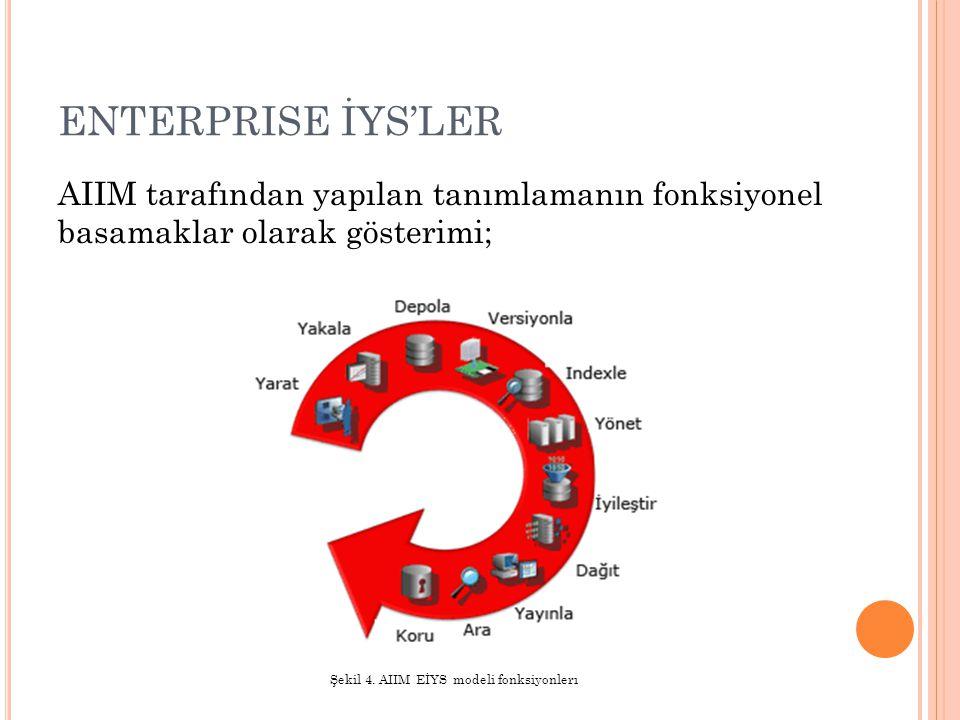 Şekil 4. AIIM EİYS modeli fonksiyonlerı