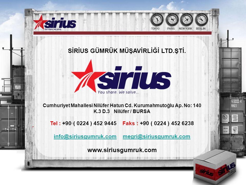 info@siriusgumruk.com megri@siriusgumruk.com